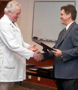 Excellence in Education Research Award winner, Dr. Nicholas Coe, Department of Surgery